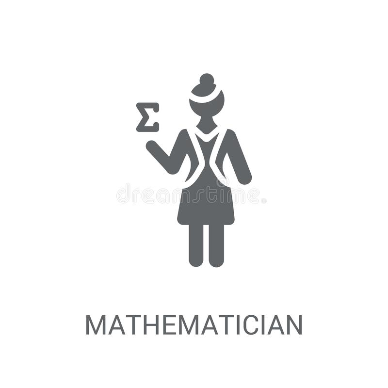 Mathematician icon. Trendy Mathematician logo concept on white b stock illustration