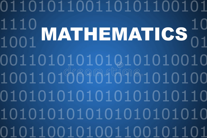Mathematics Abstract Background royalty free illustration