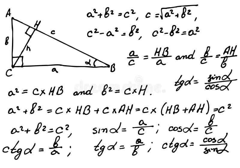 Mathematics background vector illustration