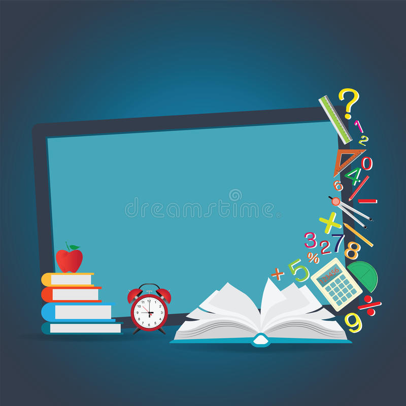 Mathematics Design Background With Open Book. Stock Vector ...