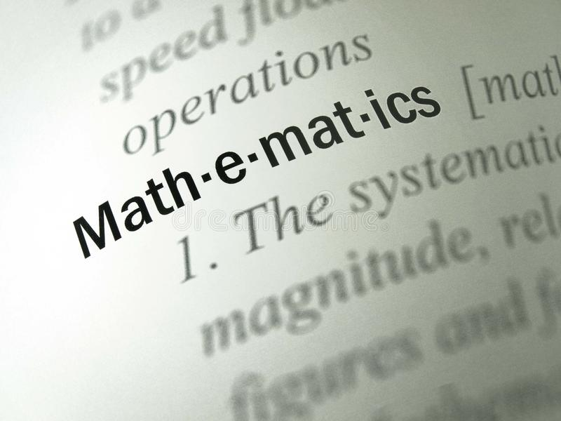 The Word Mathematics In The Foreground. Definition ...