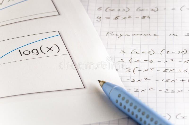 Logarithmic graph stock image  Image of minus, background - 35840359