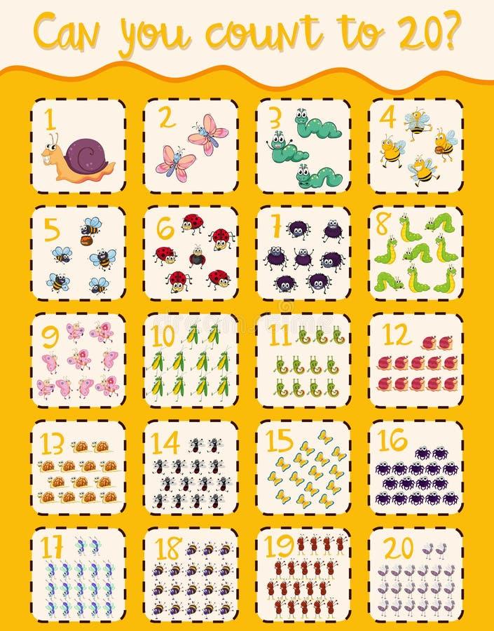 Mathematics plakata obliczenie 1, 20 ilustracji