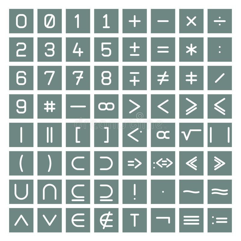 Mathematics Symbols Collection royalty free illustration