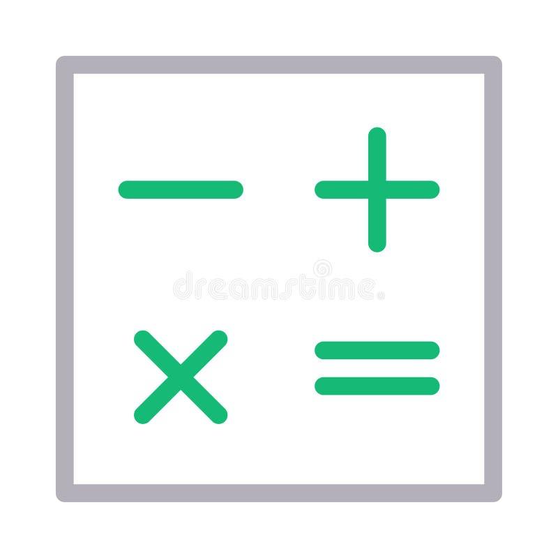 Mathematics thin color line vector icon stock illustration