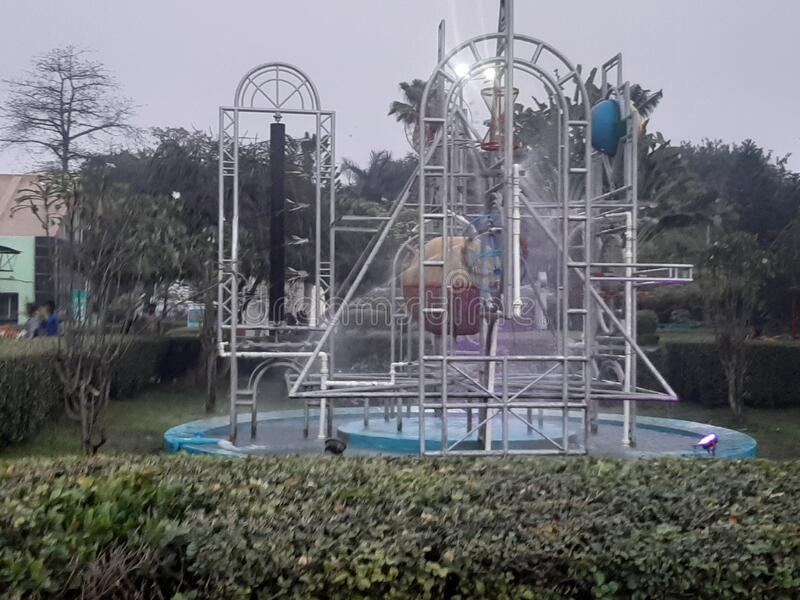 Mathematics water pump in science city on the city of Kolkata. This place is so beautiful in India stock photography