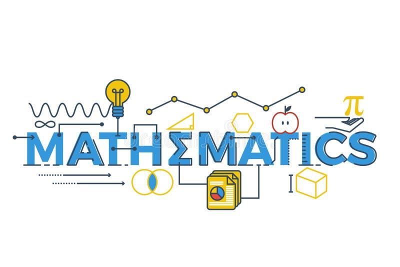 Mathematics word illustration stock photos