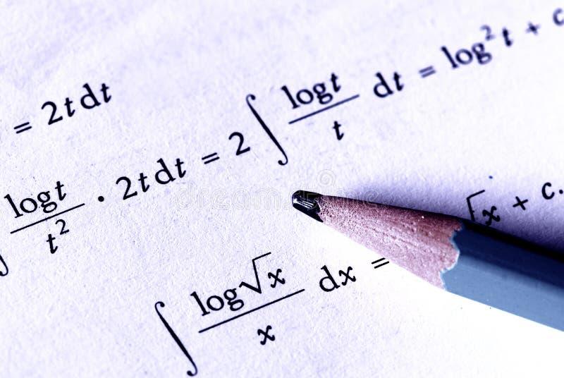Mathematik lizenzfreie stockfotos