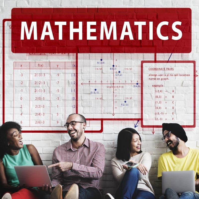 Mathematik-Gleichung berechnen Algebra-Funktions-Konzept stockfotos
