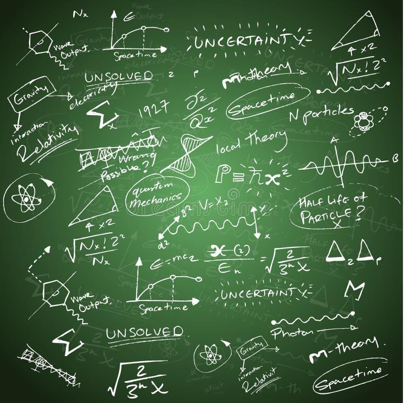 Mathematik-Hintergrund stock abbildung