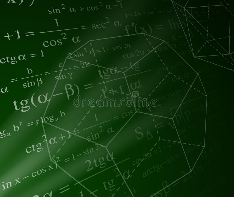 Mathematikhintergrund stock abbildung