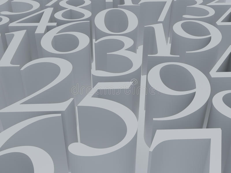 Mathematikweißsymbol stock abbildung