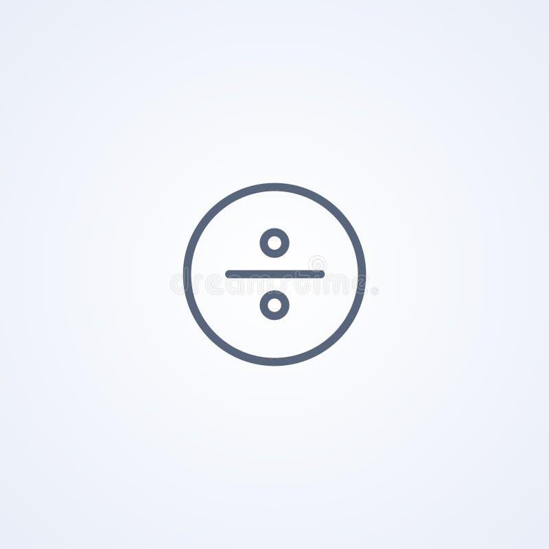 Mathematische Abteilungsikone, beste graue Linie Ikone des Vektors vektor abbildung