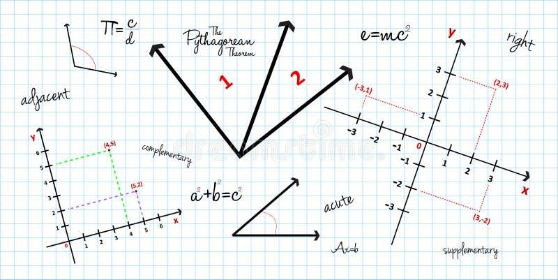 Mathematischer Geometrie-Hintergrund Lizenzfreies Stockfoto