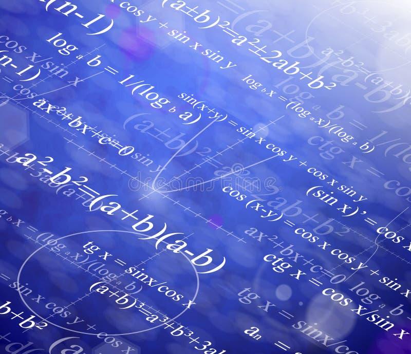 Mathematischer Hintergrund stock abbildung
