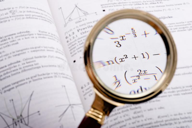 MatheNachschlagbuchdetail lizenzfreie stockbilder