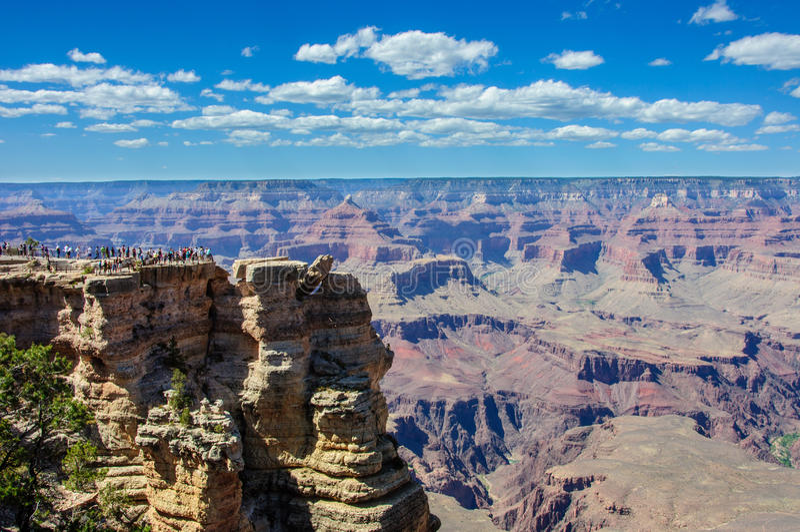 Mather Point i den Grand Canyon nationalparken, Arizona arkivbilder