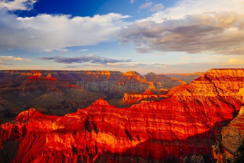 Mather Point, Meningspunt, het Nationale Park van Grand Canyon, Arizona, U stock foto