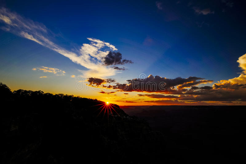 Mather Point, Meningspunt, het Nationale Park van Grand Canyon, Arizona, U royalty-vrije stock foto's