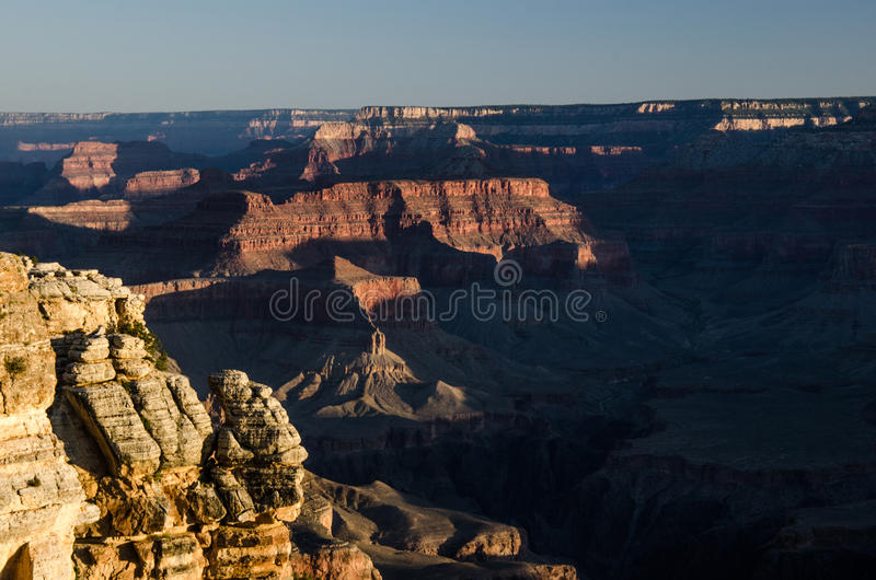 Mather Point Sunrise, Grand Canyon stock afbeelding