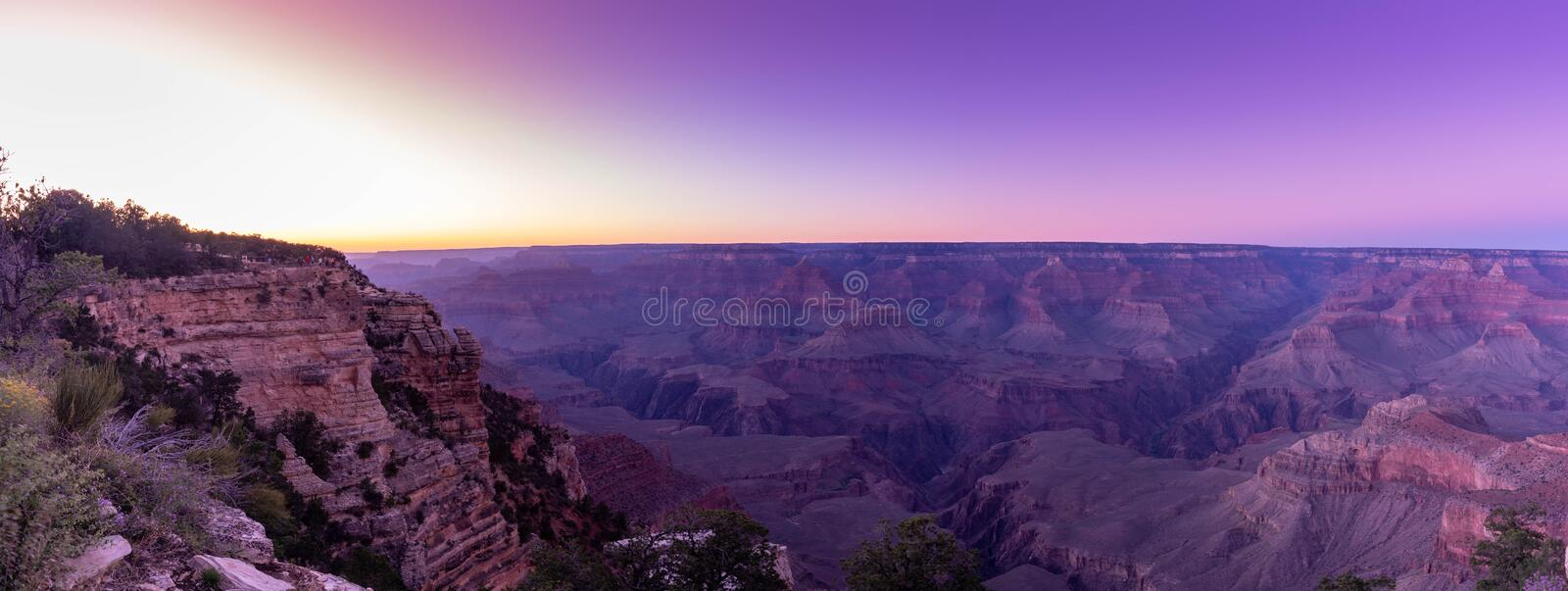 Mather view point of Grand Canyon during sunset time , Arizona royalty free stock photo