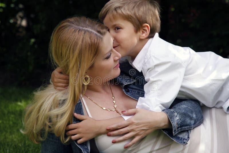 Mather z synem zdjęcia stock