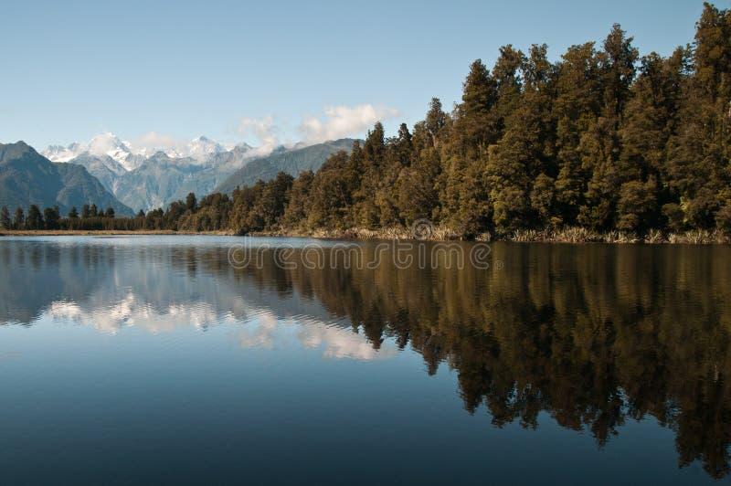 Matheson del lago, NZ fotografia stock libera da diritti