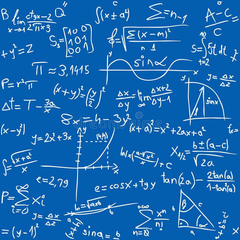 Mathetabelle stock abbildung