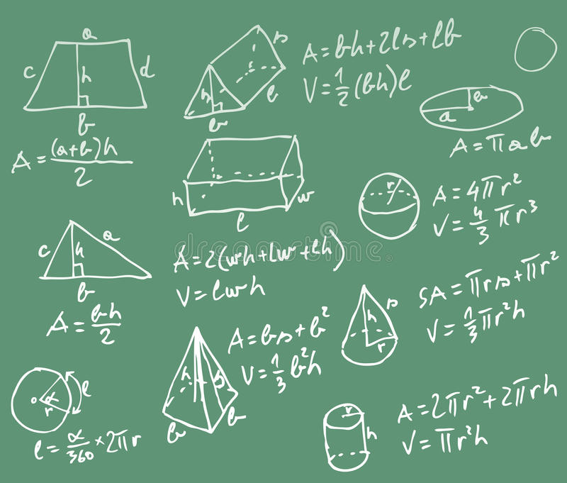 Mathetafel stock abbildung