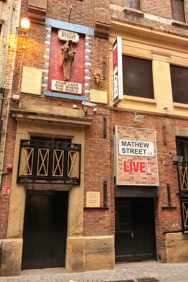 Mathew street. Birthplace of the Beatles. Liverpool. England stock images