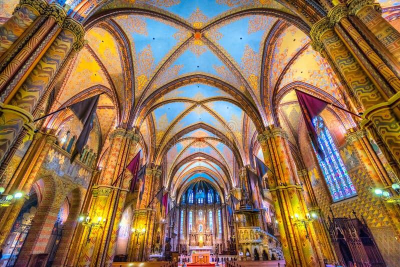 Mathias Cathedral Budapest, Ungern royaltyfri fotografi