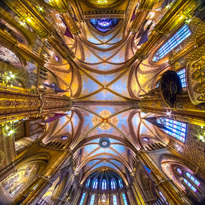Mathias Cathedral Budapest, Ungern arkivbild