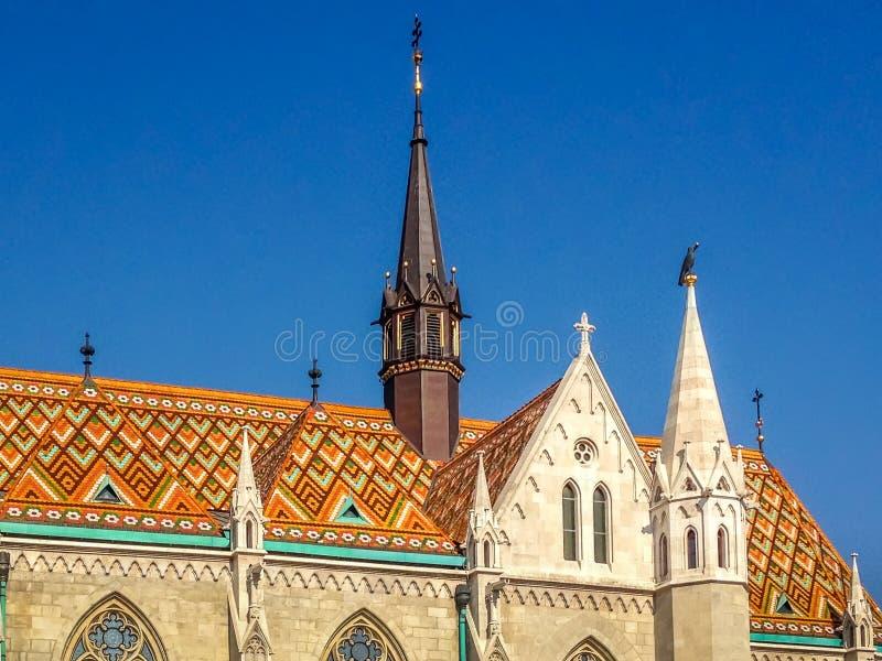 Mathias Church - Budapest, Ungern royaltyfri fotografi