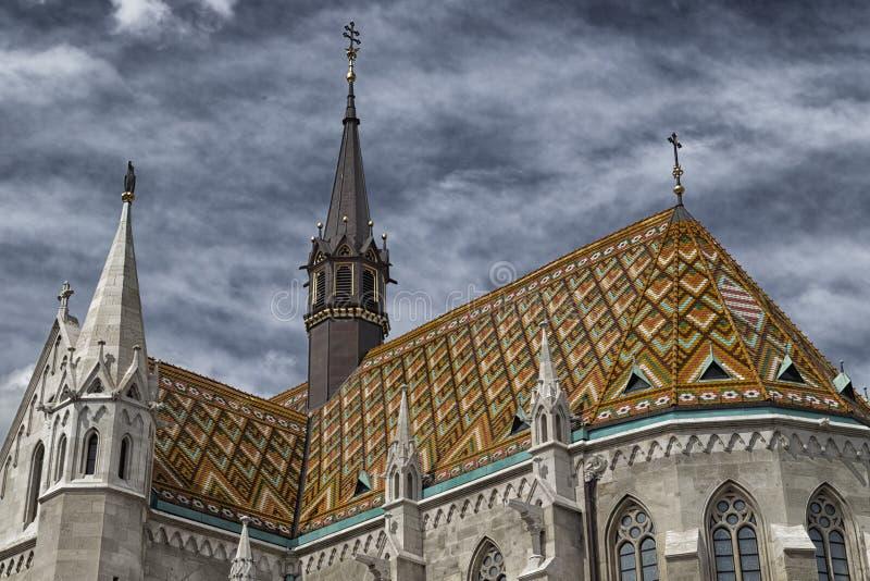 Mathias Church i Budapest royaltyfria foton