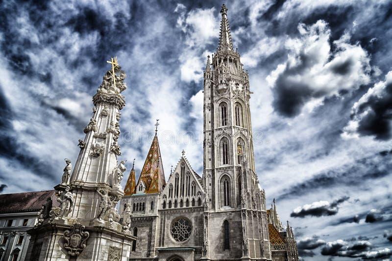 Mathias Church i Budapest royaltyfria bilder