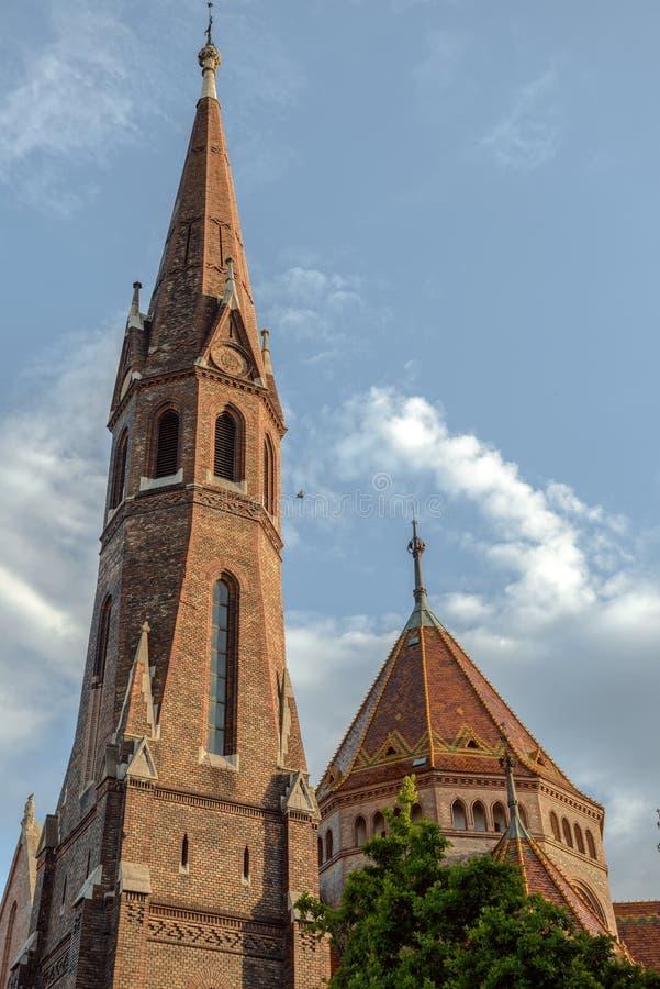 Mathias Church i Budapest royaltyfri foto