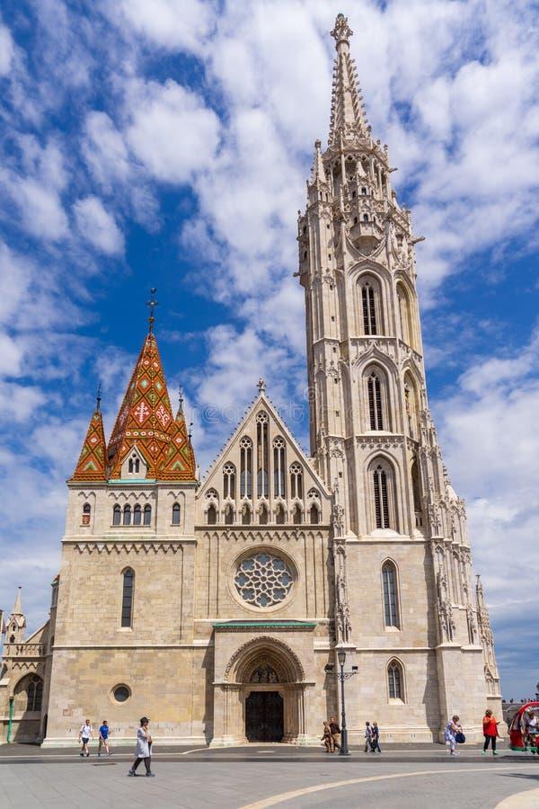 Mathias Church på slottfjärdedel royaltyfri foto