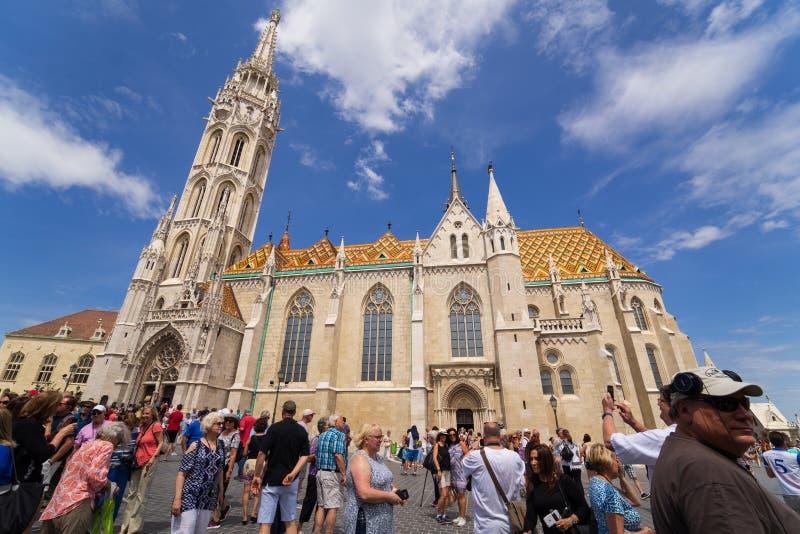 Mathias Church popularitet på Budapest arkivfoto