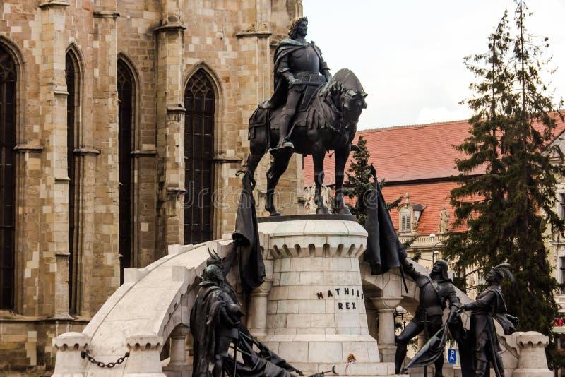 Mathias Corvinus Monument royaltyfri foto