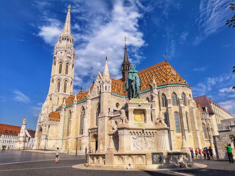 Mathias Curth de ville de Budapest photographie stock libre de droits