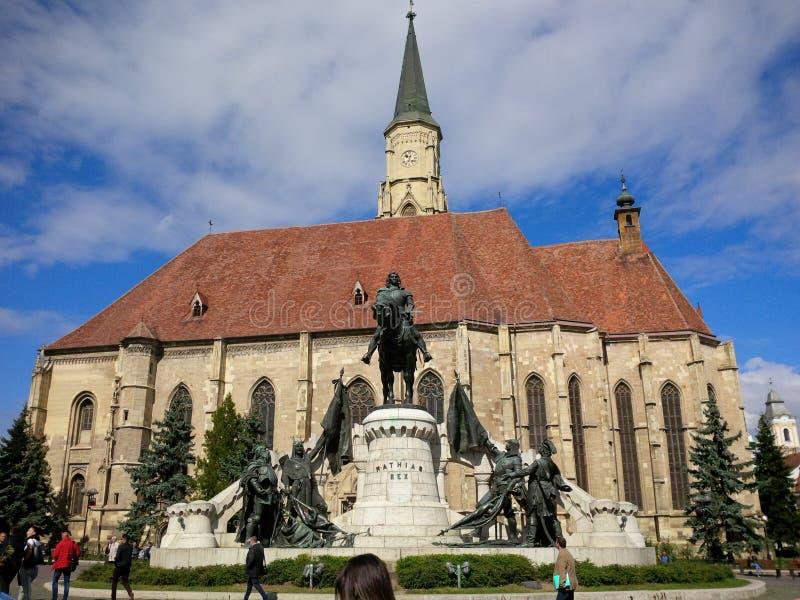 Mathias Rex från Cluj-Napoca arkivbild