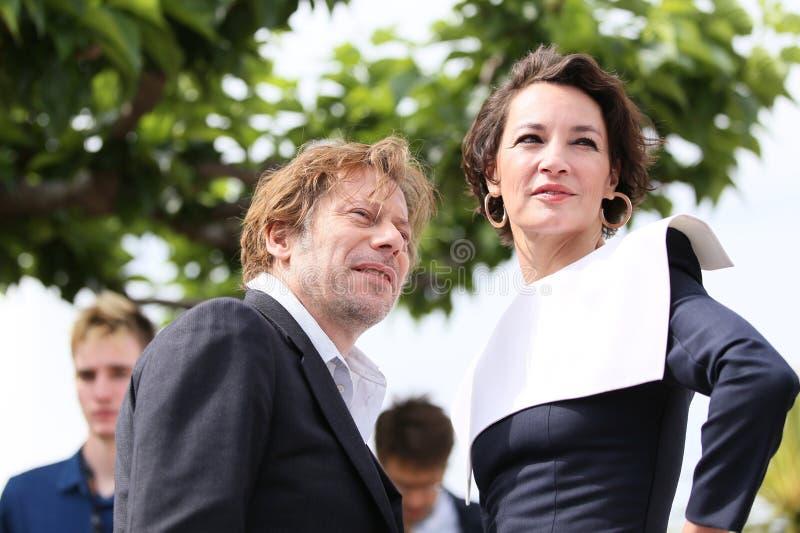 Mathieu Amalric e Jeanne Balibar fotografia de stock