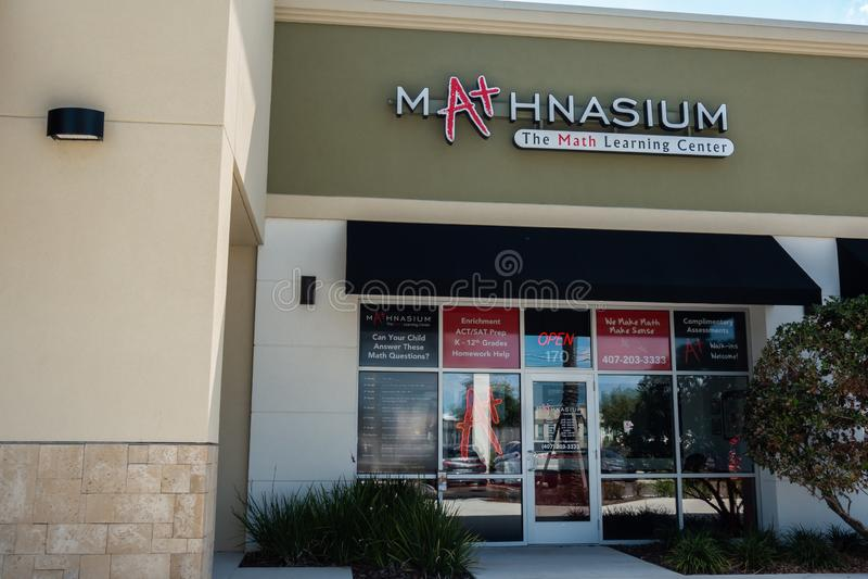 Mathnasium是教育品牌和补充学习的特权 免版税库存图片