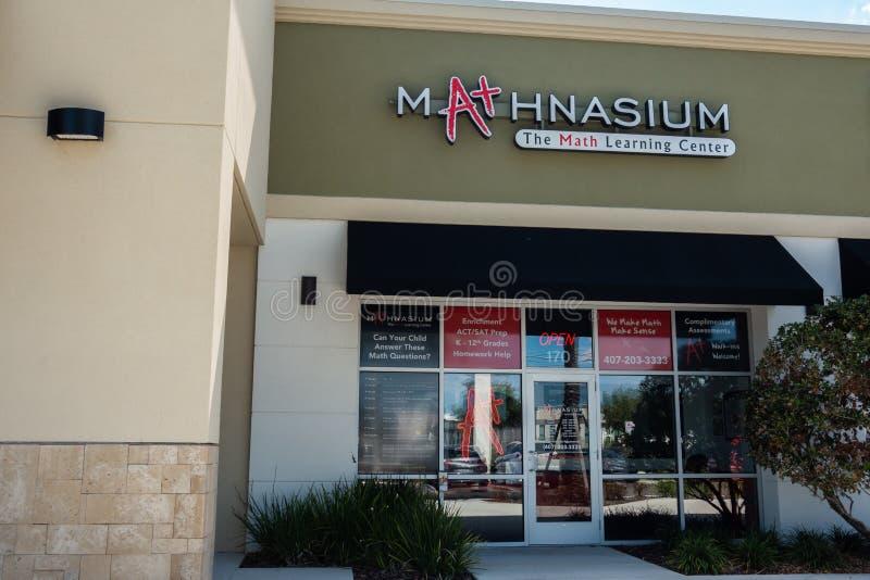 Mathnasium бренд образования и дополнительная уча франшиза стоковые изображения rf