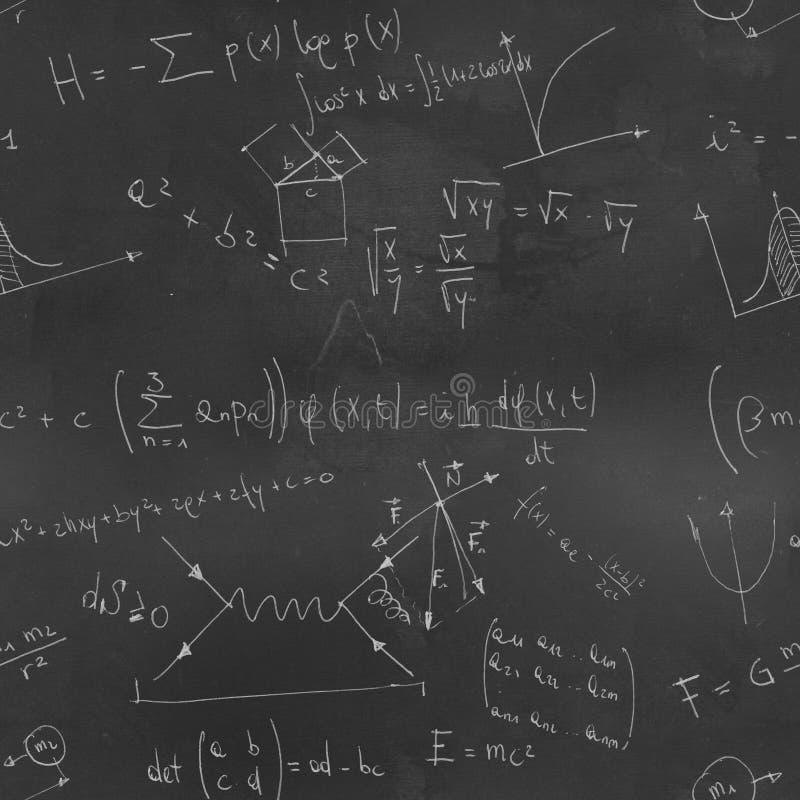 Maths Chalk Board seamless pattern royalty free stock photos