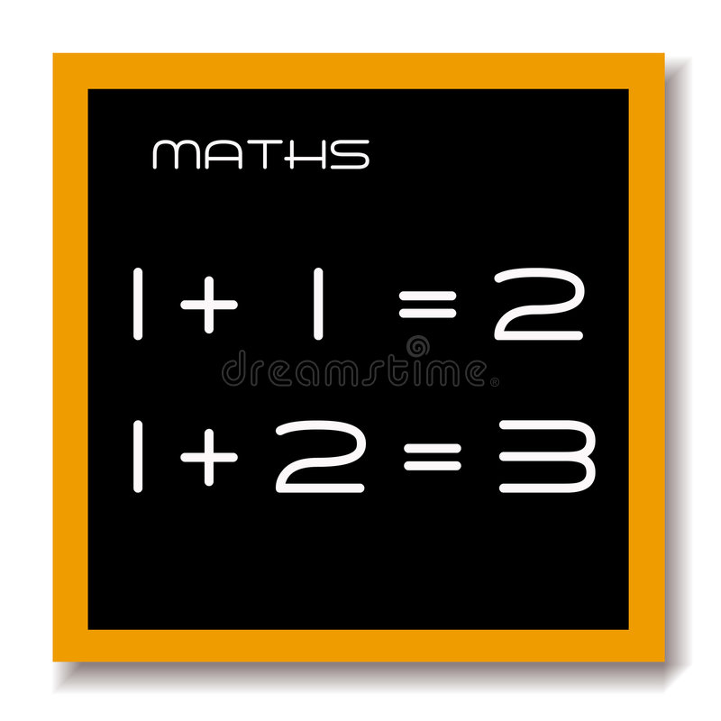 Download Maths Education Black Board Stock Illustration - Image: 2720176