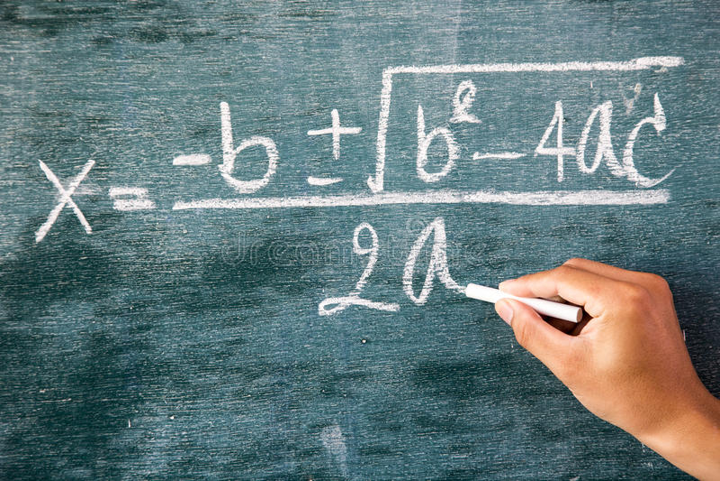 Maths formuły pisać biel kredą obraz royalty free