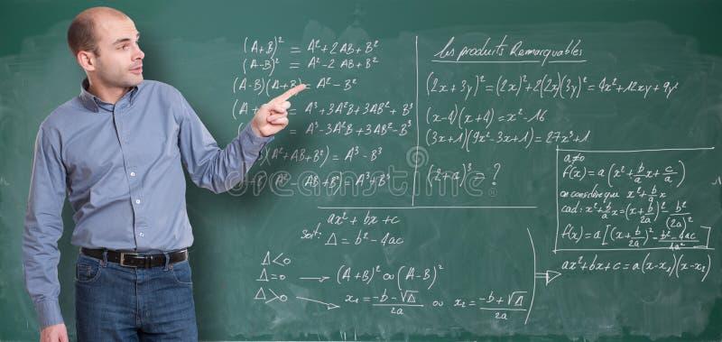 Maths nauczyciel obrazy stock