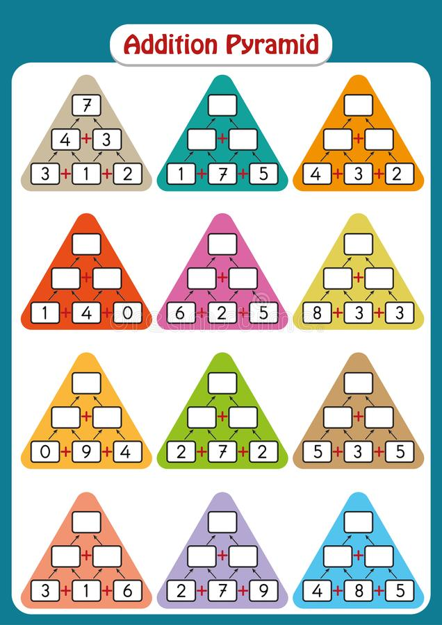 Maths Pyramids For Mental Maths Practice, Complete The Missing ...