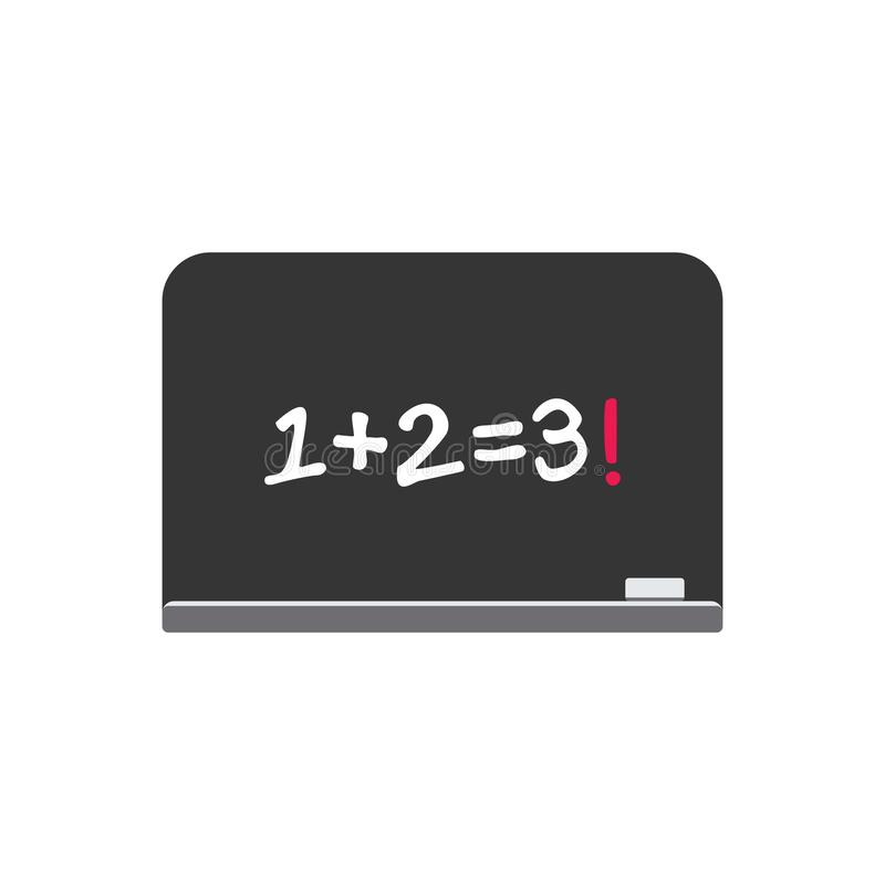 Maths simples sur le vecteur de décoration de symbole de tableau illustration libre de droits
